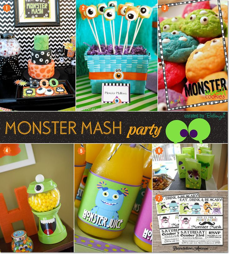 """Monster Mash"" Halloween Party Ideas: The Eyes Have It! #monstermash #halloweenforkids"