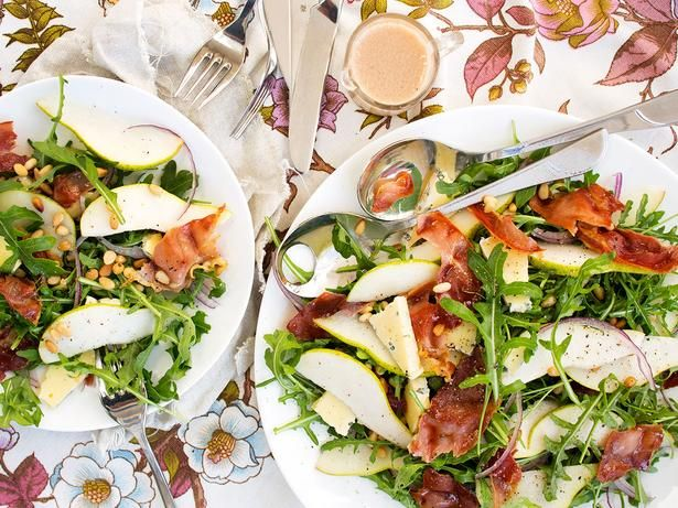 Pear Salad Recipe with Prosciutto and Pine Nuts - Viva