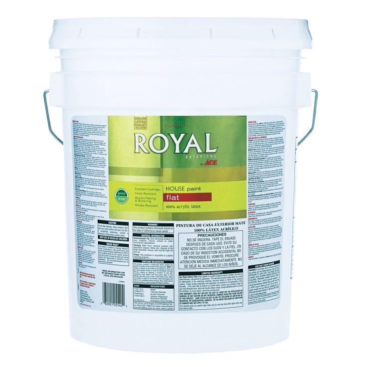 Royal Exterior Latex Flat House Paint 5 Gallon