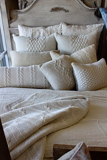 would like these cable knit pillows for the family room...