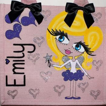 HunniBunni Emily Little Miss Fairy Personalised Mini Juco Bag