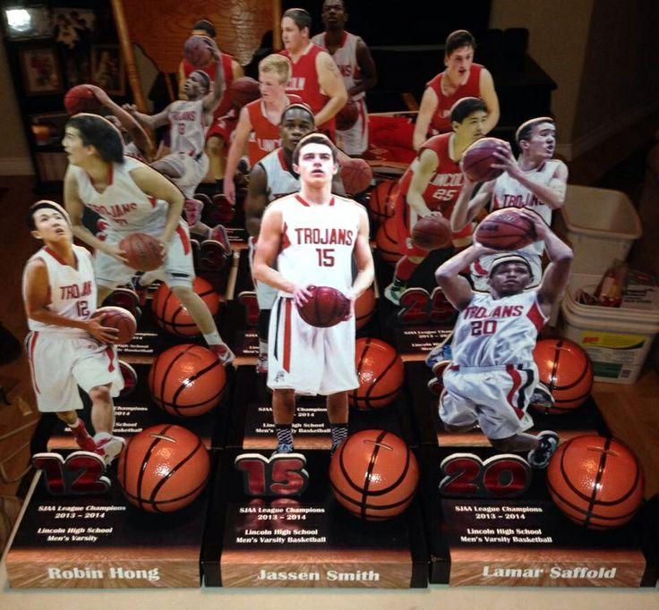 Basketball banquet centerpieces.  Not machine made man made by Shereen & Jassen Smith Sr!
