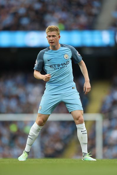 Kevin De Bruyne of Manchester City during the Premier League match between Manchester City and Sunderland at Etihad Stadium on August 13 2016 in...