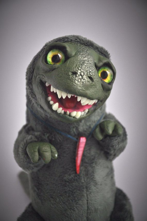 FANTASY PLUSH ANIMALS Crazy Dino Ooak Fantasy by FoxyMocksy