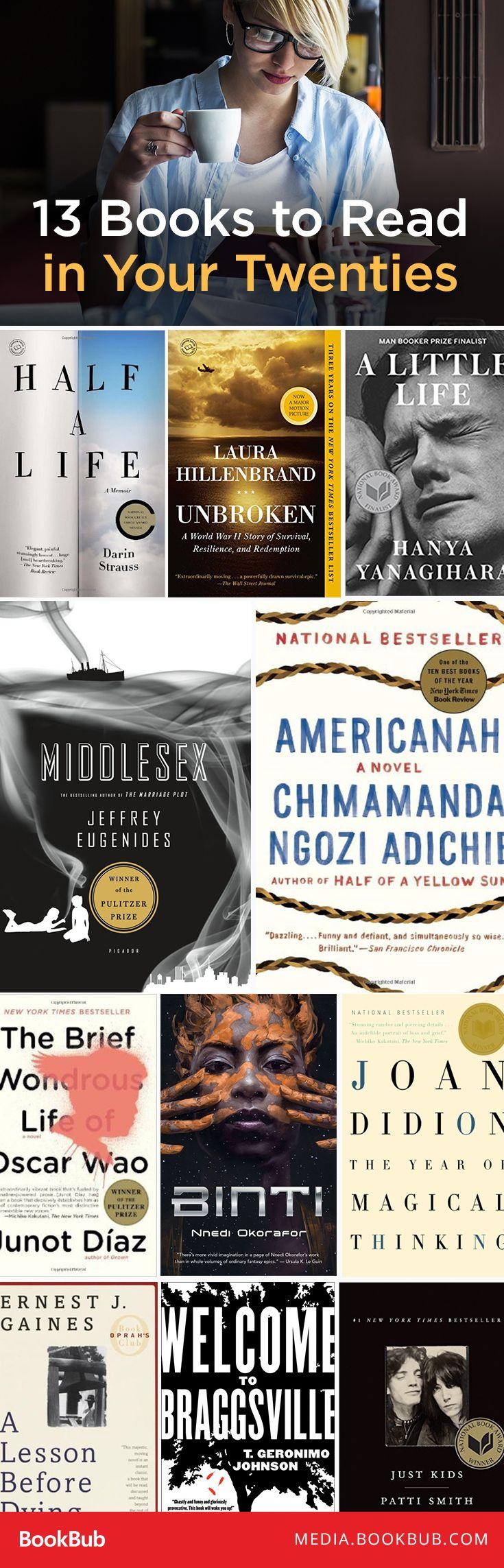 13 top books to read in your twenties.