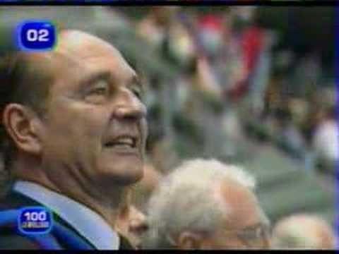 Chirac à la Coupe du Monde 1998
