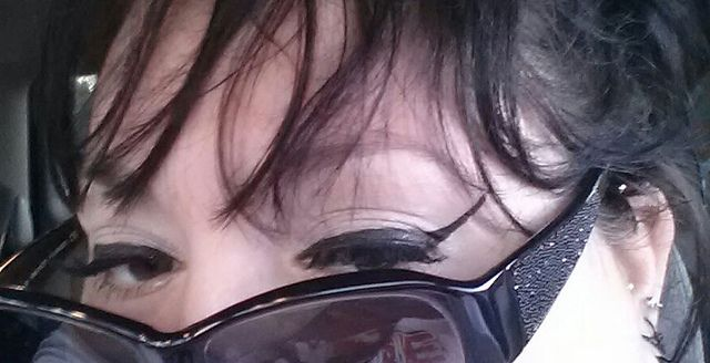 Ardel lashes over MAC black liquid liner tipped with ELF liquid liner and the sunglasses I lost to the ocean waves in Ocean City Maryland.