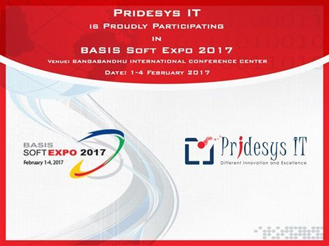 We are proudly announcing that Pridesys IT Ltd is participating in the 11th BASIS SOFTEXPO 2017, which is scheduled to be held from 1-4 February 2017 at BICC (Bangabandhu International Conference Center). It is the largest private sector showcase for IT, ITES and ICT system solution. You all are cordially invited to join the SOFTEXPO and visit Pridesys IT pavilion.