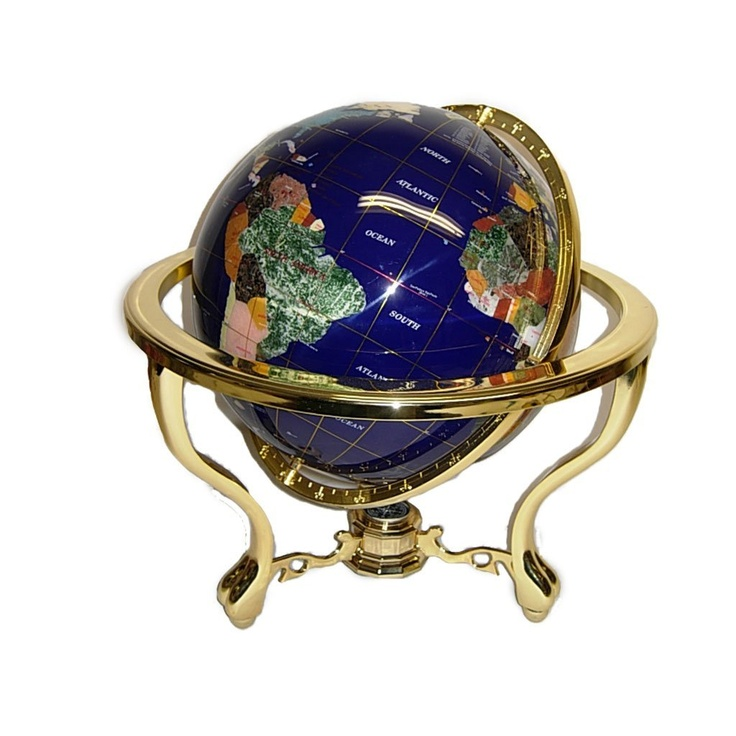 gemstone world map globe lapis blue we are the world