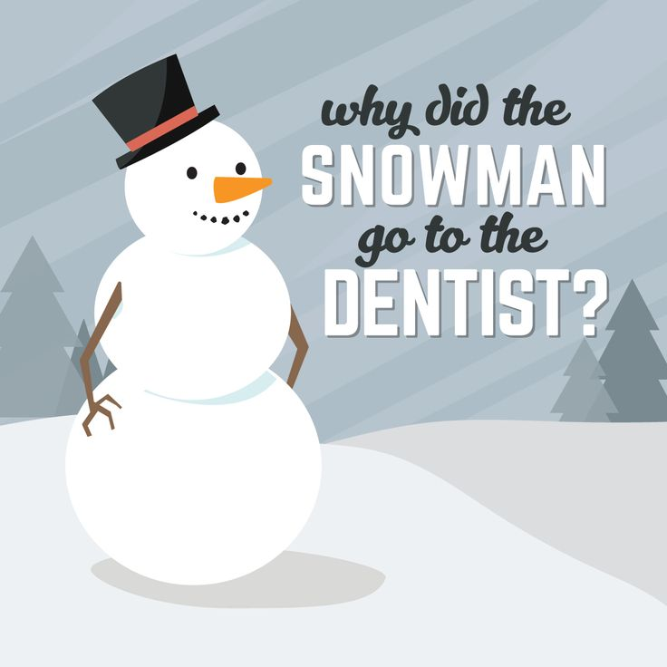 To fix his FROSTBITE! Hehe! Always good to start the week off with laughs! Do you know any good dental jokes? #humor #laughteristhebest
