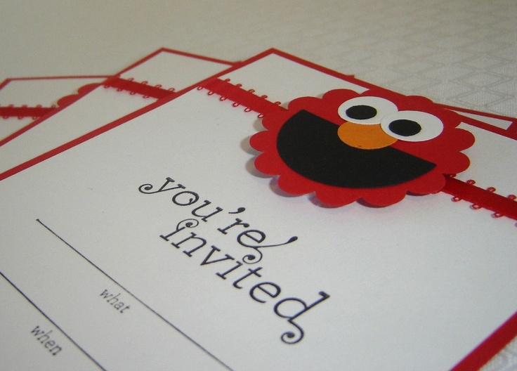 49 best elmo images – Homemade Elmo Birthday Invitations