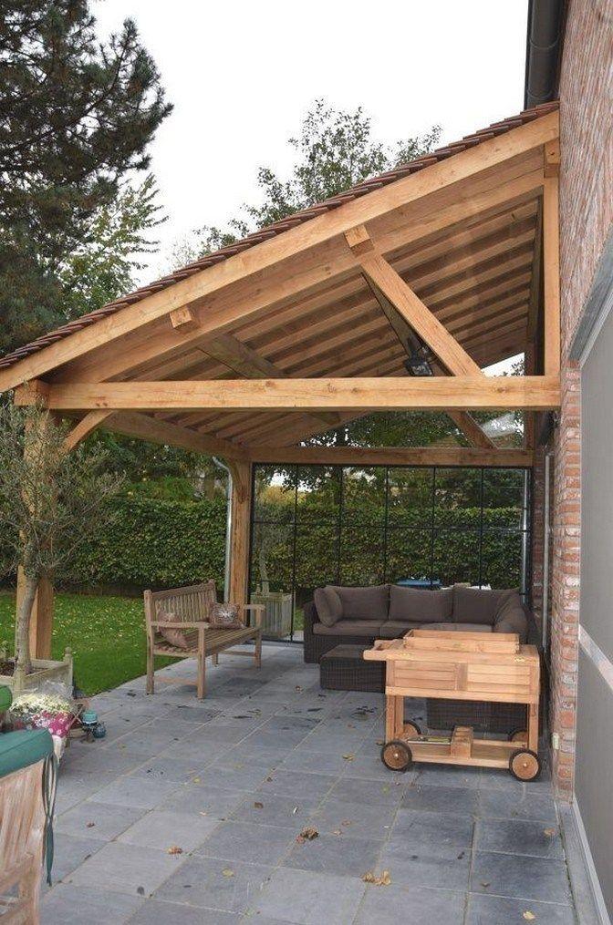 48 Hinterhof Veranda Ideen auf einem Budget Terrasse Makeover Außenräume am besten gefällt mi…