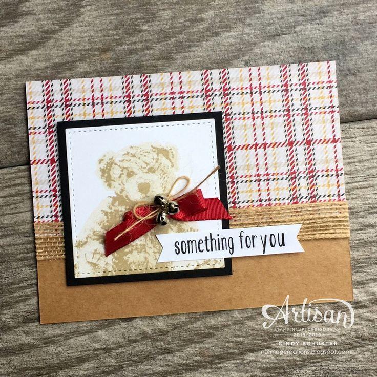 Baby Bear Stamp Set with Stitched Shape Framelits - Cindy Schuster