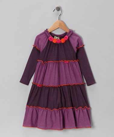 Take a look at this Purple Minka Dress - Infant, Toddler & Girls by Sophie Catalou on #zulily today!
