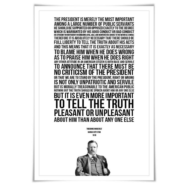 Theodore Roosevelt Presidential Criticism Essay. 4 Sizes. American History. Patriotism Quote. Loyalty US Treason