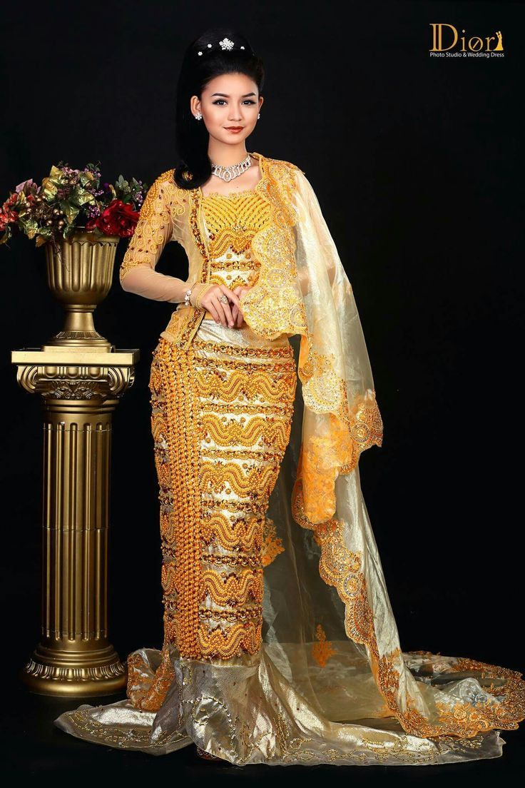 159 Best Images About Myanmar Wedding Dress On Pinterest