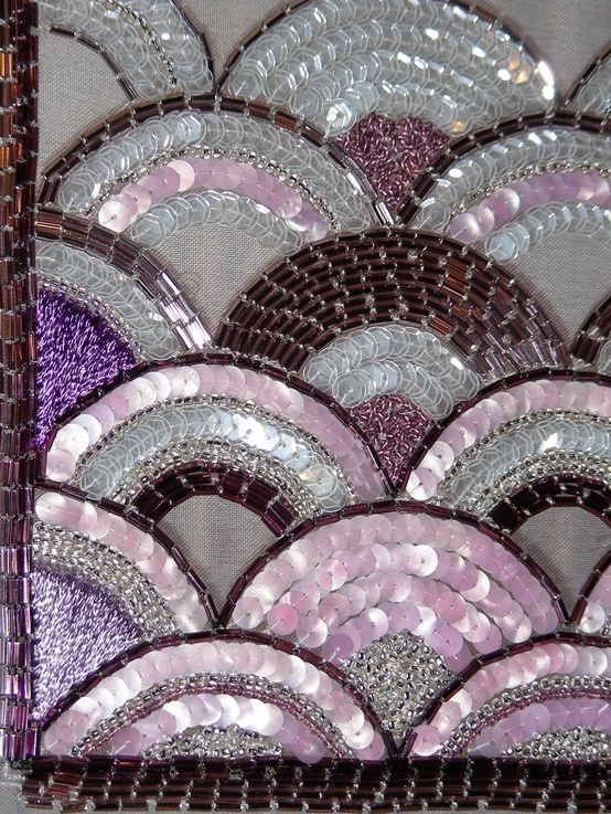 BEADED CLAM SHELL..........PC ............Royal School of Needlework... gorgeous.