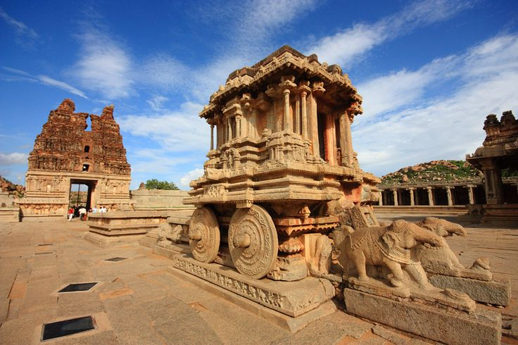 """Hampi is the ancient village which is located in the Indian State of Karnataka. It is recognised as a UNESCO World Heritage Site. Experience this place with """"Pride of the South"""" which is the famous itinerary of Golden Chariot train."""