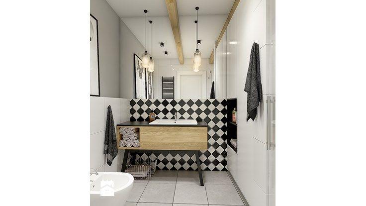 """""""wszystko i nic"""" czyli styl mieszany. - Mała łazienka w bloku bez okna, styl eklektyczny - zdjęcie od WERDHOME"""