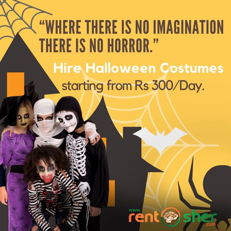 Let your imagination be on peaks this #Halloween and make it successful by hiring wide range of #Halloweencostumes from RentSher at affordable prices. Visit us here for more details: Bangalore - http://bit.ly/2e6aVUj Delhi- http://bit.ly/2dWvRAx