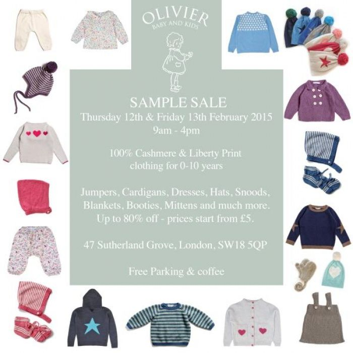 Olivier baby and kids sample sale -- London -- 12/02-13/02