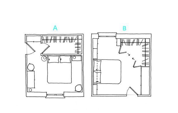 Come progettare una cabina armadio ad angolo