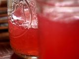 cherry limeade. 2 liter lemon/lime soda, 1 cup sugar, 1 cup lime juice, one 10oz jar maraschino cherries