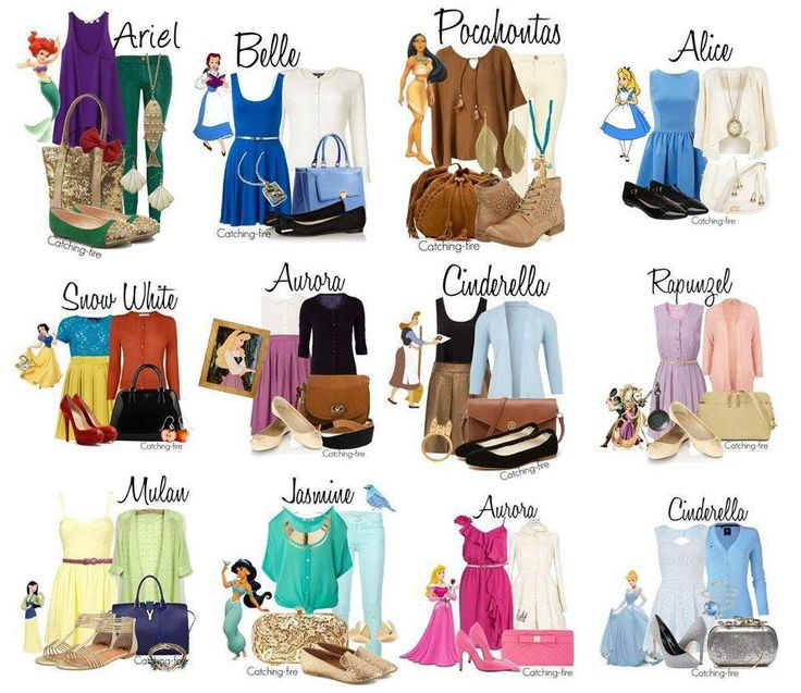 Animated Princess Inspired outfits