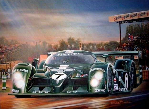 Beautiful painting of Bentley's return to Le Mans