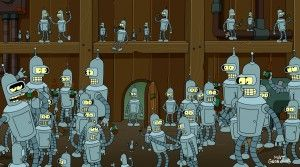 "Bender and more Benders on FUTURAMA - Season 6B - ""Benderama"" 