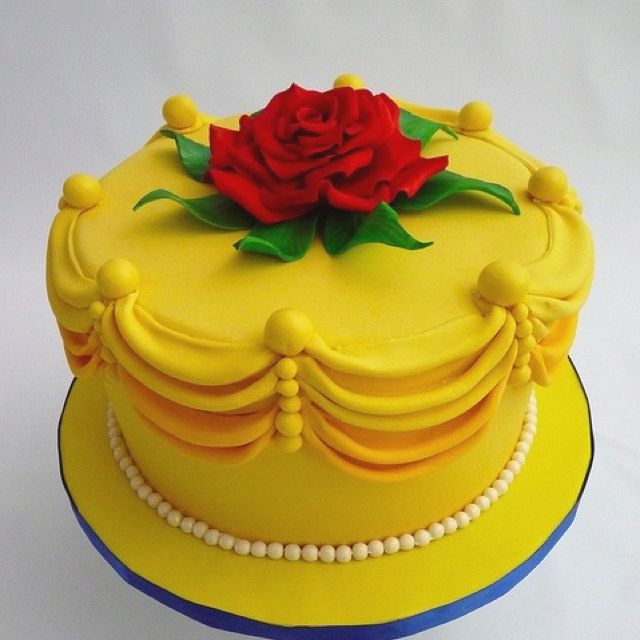 Beauty and the Beast #disney #cake omg i want this for my next birthday <3 i love Belle