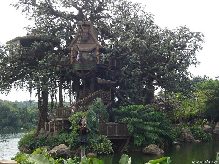 Tarzan's Treehouse Disneyland HK - YouTube