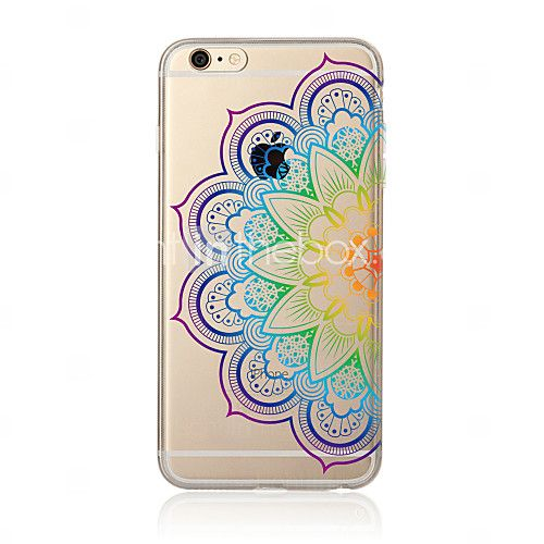 Mandala Pattern TPU Soft Case Cover for Apple iPhone 7 7 Plus iPhone 6 6 Plus iPhone 5 5C iPhone 4 2016 - $2.99