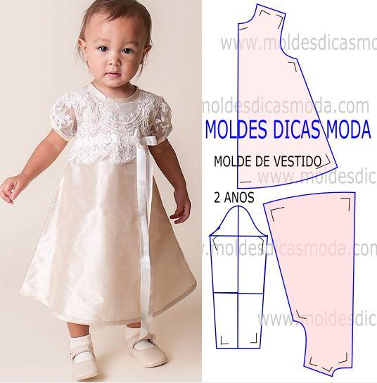 patrones para hacer vestidos de nina de 2 anos