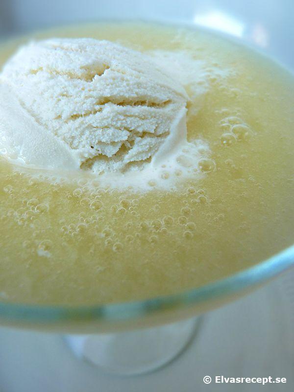 Recept på melonsoppa - kall soppa med vaniljglass och melon