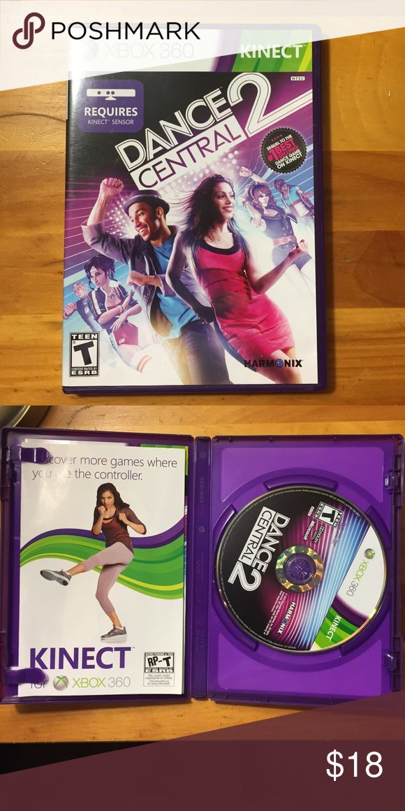 Xbox 360 Game Dance central 2 for Xbox 360, only played once or twice, great condition. Requires you to have the kinect. xbox Other