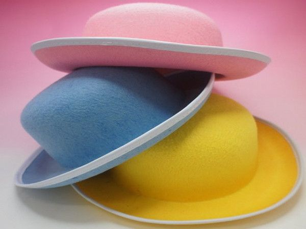 3A EASTER HAT PINK,YELLOW,BLUE