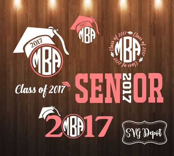 Seniors Class of 2017 Svg group digital file svg cut by SVGDEPOT