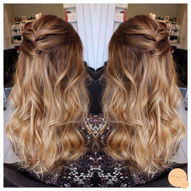 Warm Lightbrown / darkblonde ombre