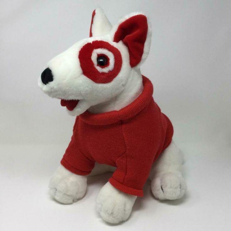 Details about target bullseye dog stuffed animal plush ted