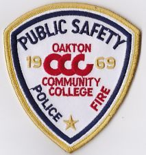 Oakton Community College Police/Fire Patch Public Safety Illinois