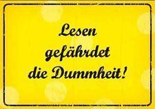 Postkarte Grußkarte mit Spruch * Lesen gefährdet die Dummheit * Spruchkarte