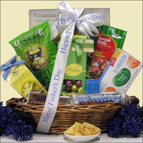 32 best fathers day gift baskets images on pinterest fathers this is a great gourmet food gift basket that is sugar free offers a delicious assortment of cookies candies and snacks that they will enjoy for weeks negle Images