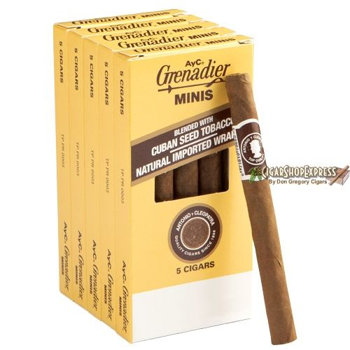 New Online Cigar Deal: Antonio y Cleopatra Cigar 5-Packs Minis  4.5 x 28 – $23.25 added to our Online Cigar Shop https://cigarshopexpress.com/online-cigar-shop/cigars/cigar-5-packs/antonio-y-cleopatra-cigar-5-packs-minis-4-5-x-28/ Antonio y Cleopatra are extremely popular machine made cigars that have been loved and enjoyed by smokers for well over 100 years. Offering a fresh, mild, and satisfying taste, these ...