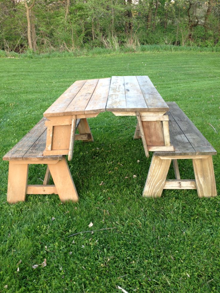 811 Best Garden Picnic Tables Images On Pinterest Picnics Wood And Woodwork