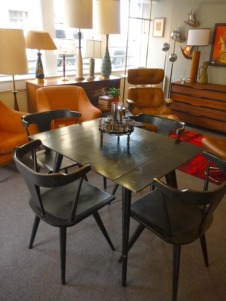 mid century paul mccobb dining set via etsy