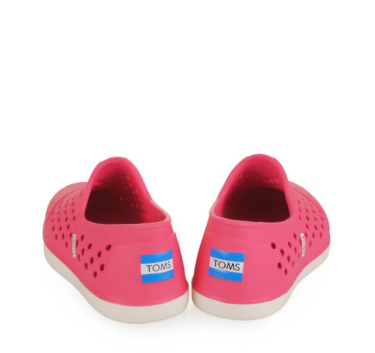 TOMS Pink RUbber Shoes for Girls. Παιδικά κοριτσίστικα λαστιχένια ροζ παπούτσια θαλάσσης.