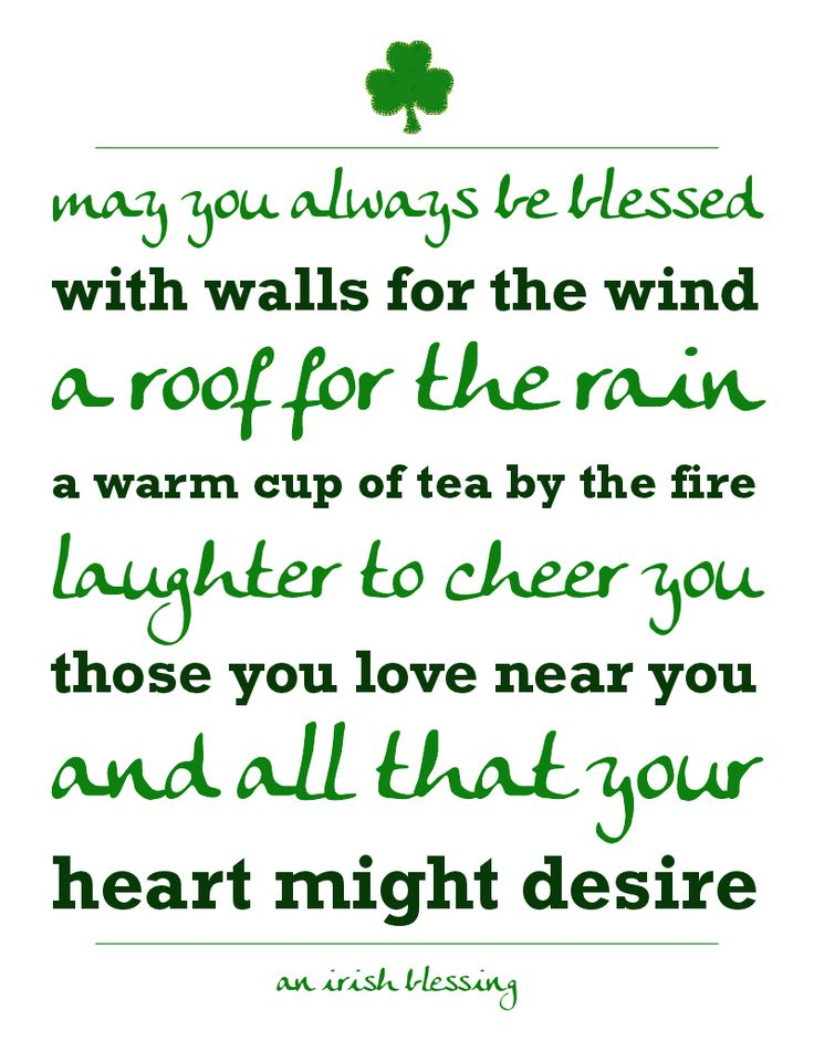 Print out this popular Irish Blessing and display for festive St. Patrick's Day decor!