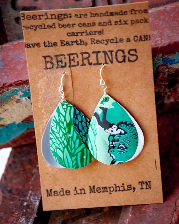 Craft Beer Can Double-sided Earrings For Every Taste Combine a love of craft beer and amazing things with a passion for creativity and you get AM Beerings. Every lightweight earring, bracelet, ring an