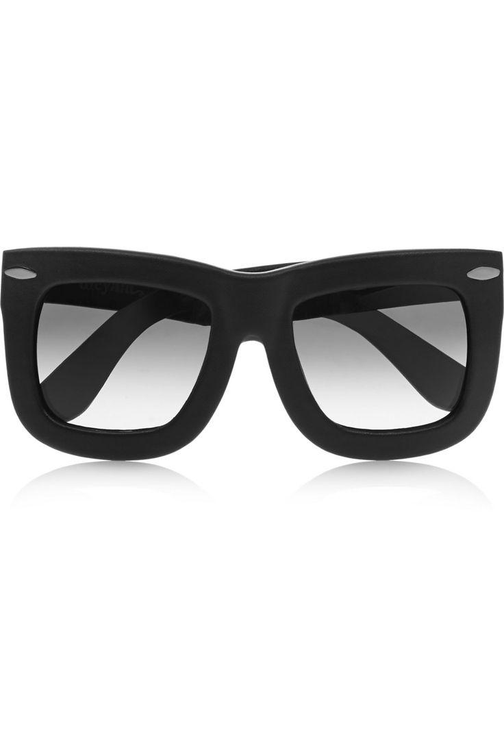 Finds   + GREY ANT Status square-frame leather sunglasses   NET-A-PORTER.COM